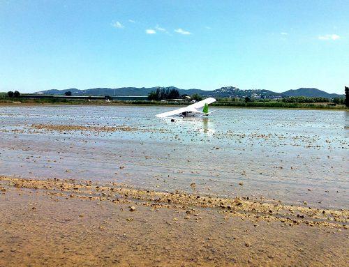 Un ultaligero entra en perdida a pocos metros de un aeródromo de Girona